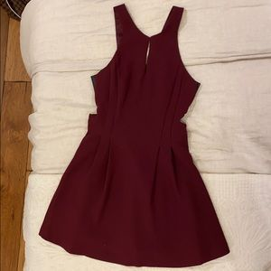 Bcbgeneration burgundy dress with leather detail